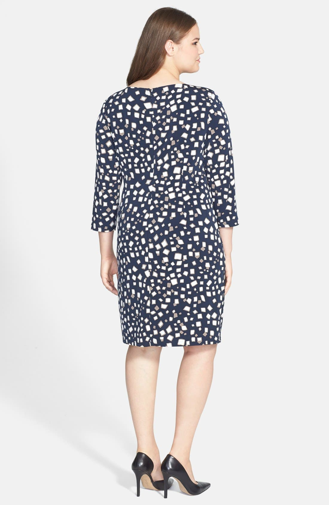 Alternate Image 2  - Adrianna Papell Drape Detail Sheath Dress (Plus Size)