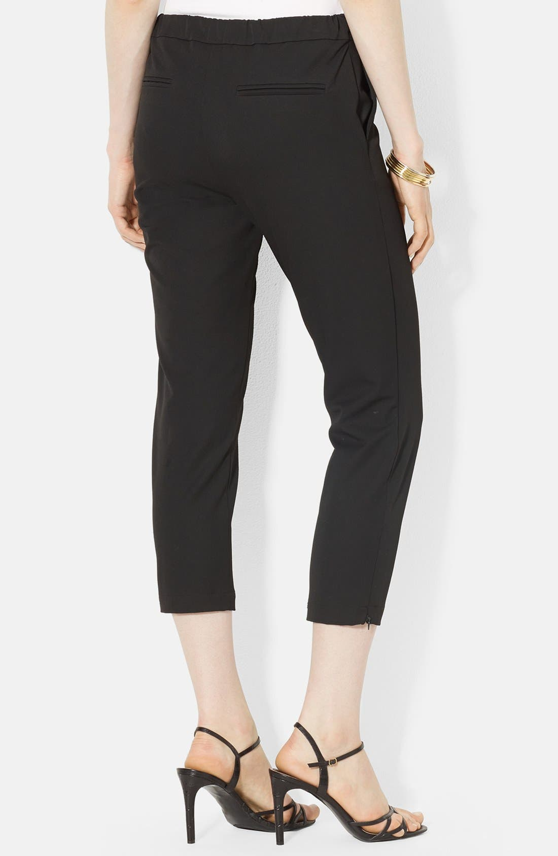 Alternate Image 2  - Lauren Ralph Lauren Stretch Crop Skinny Pants (Petite)