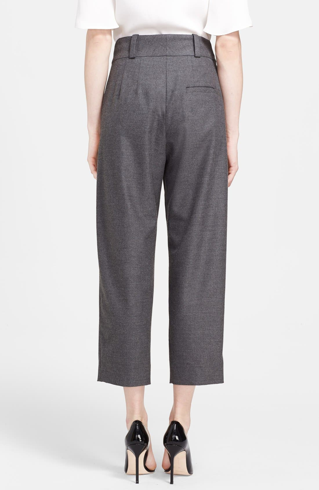 Alternate Image 2  - L'AGENCE Pleated Crop Trousers