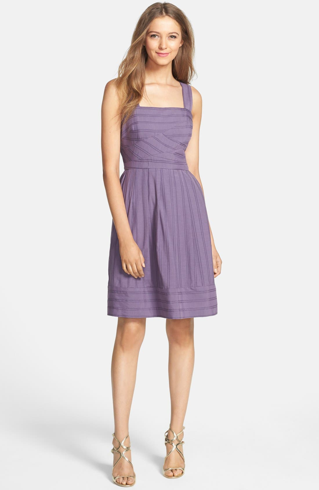 Alternate Image 3  - Ivy & Blu Pintuck Fit & Flare Tank Dress