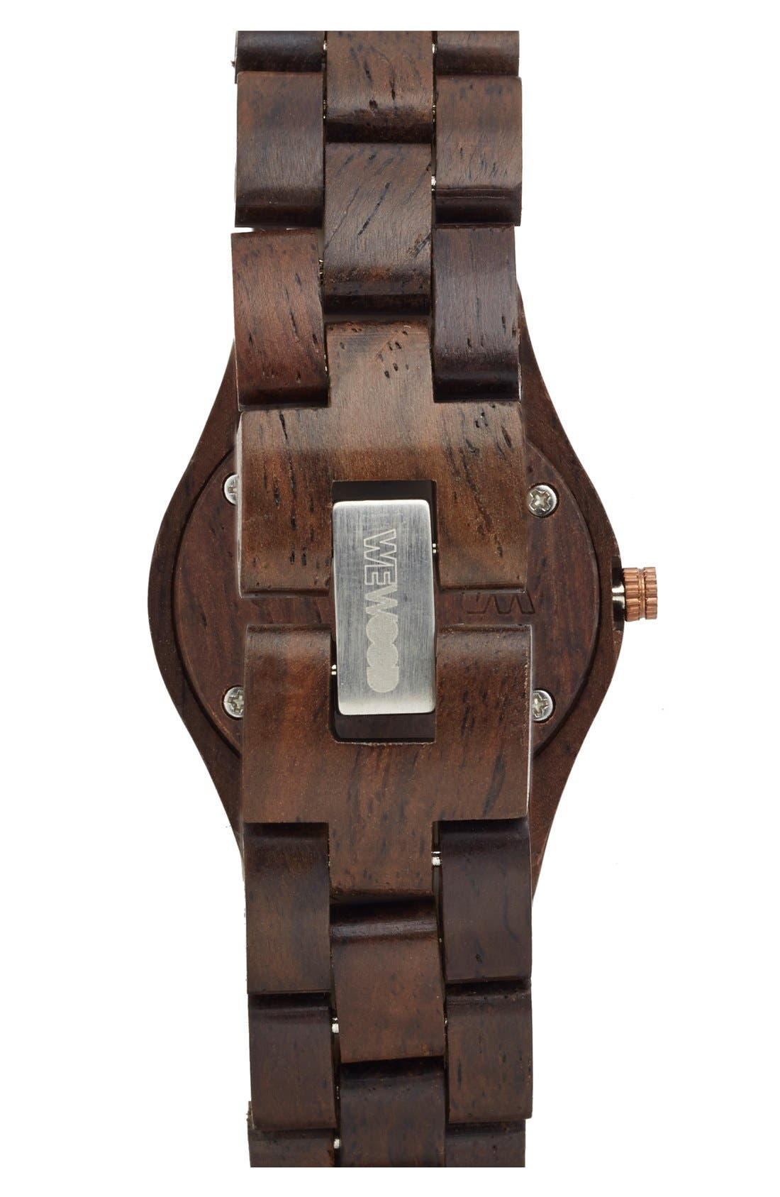 Alternate Image 2  - WeWOOD 'Moon Crystal' Wood Bracelet Watch, 29mm