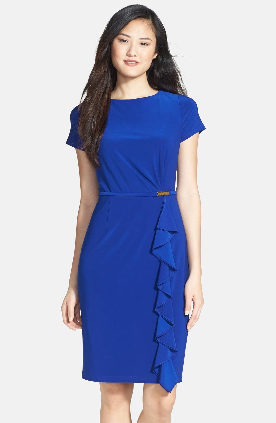 Alternate Image 1 Selected - Adrianna Papell Ruffle Detail Sheath Dress