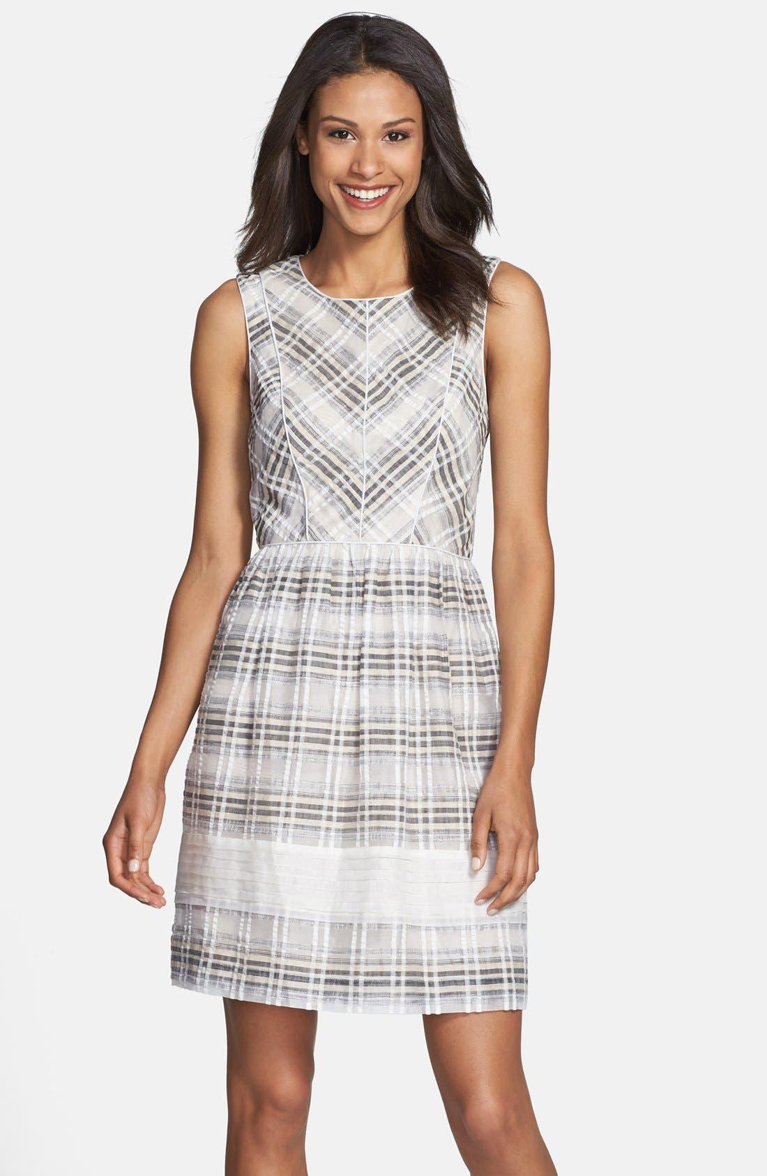 Main Image - Ivy & Blu Plaid Fit & Flare Dress