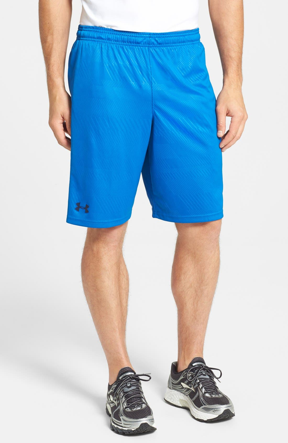 Alternate Image 1 Selected - Under Armour 'Micro - HeatGear®' Printed Knit Shorts