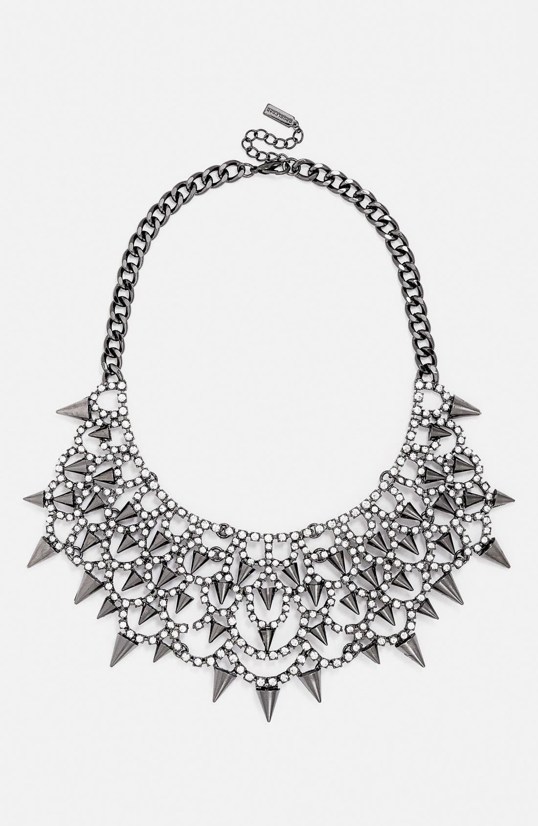 'Gothic Fang' Bib Necklace,                             Main thumbnail 1, color,                             Heamtite/ Clear