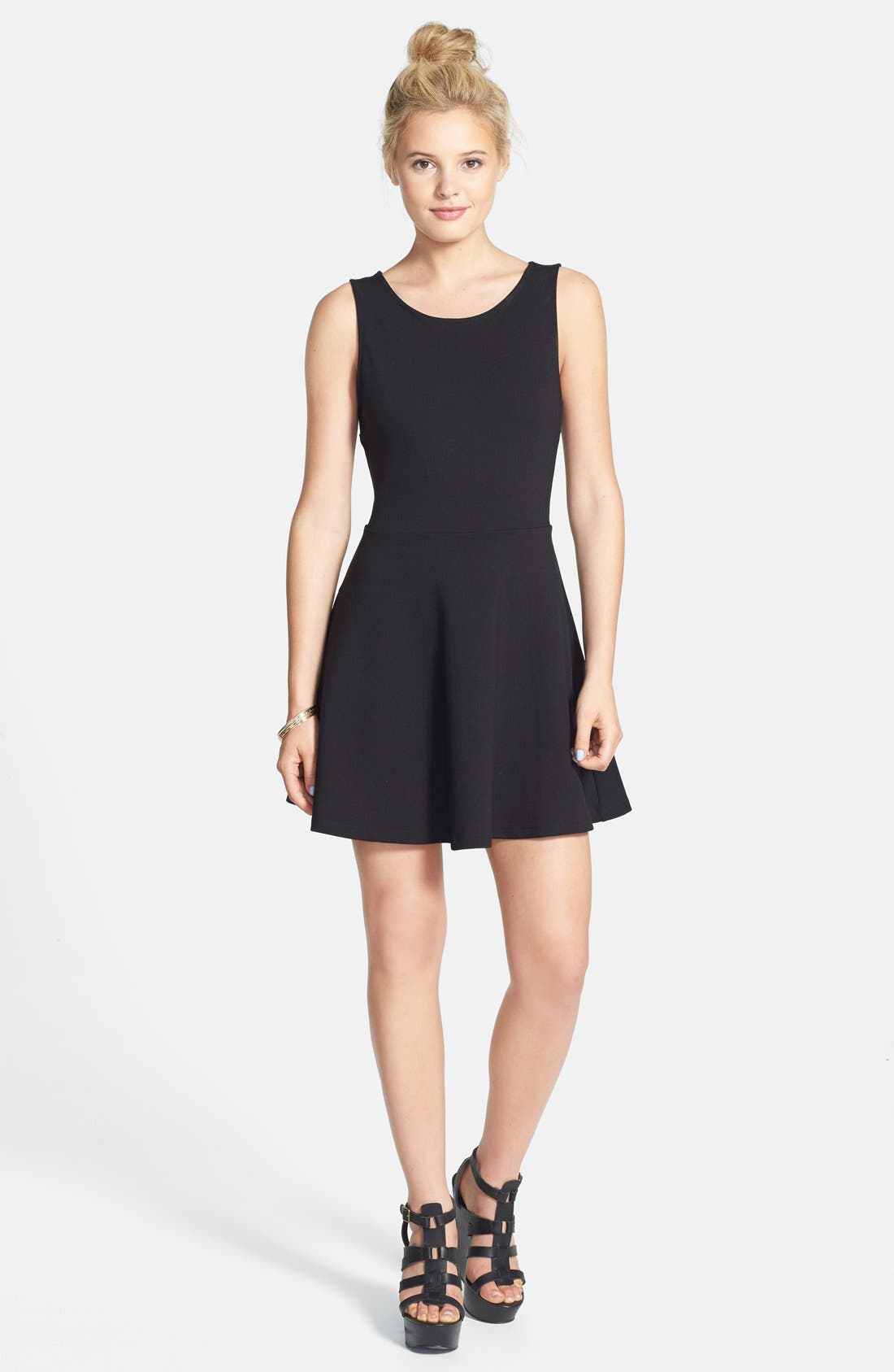 Alternate Image 1 Selected - Elodie Bow Back Skater Dress (Juniors)