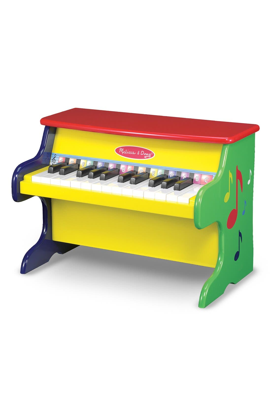 'Learn-to-Play' Personalized Piano,                         Main,                         color, Yellow