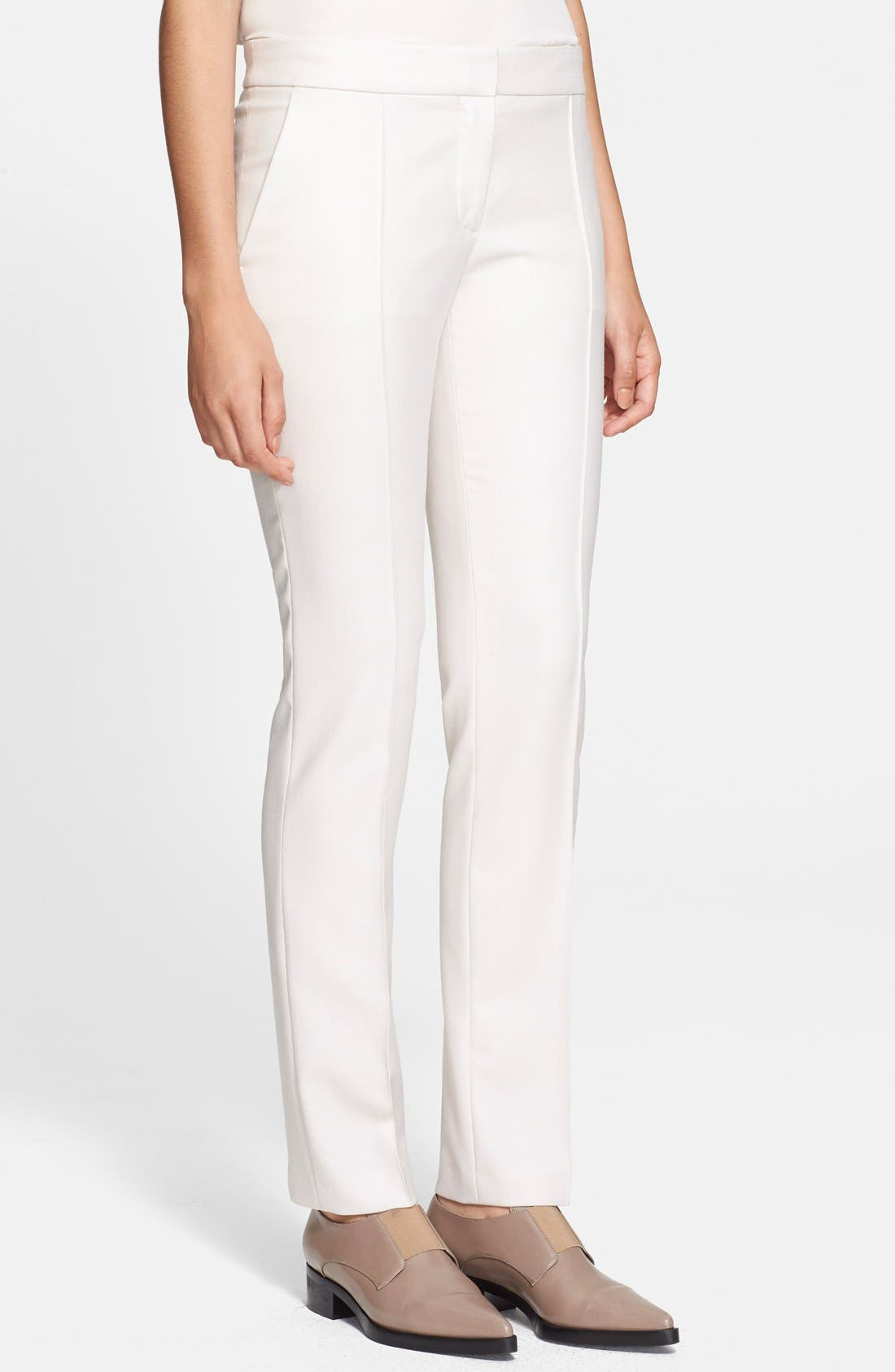 Straight Leg Pants,                         Main,                         color, Stone
