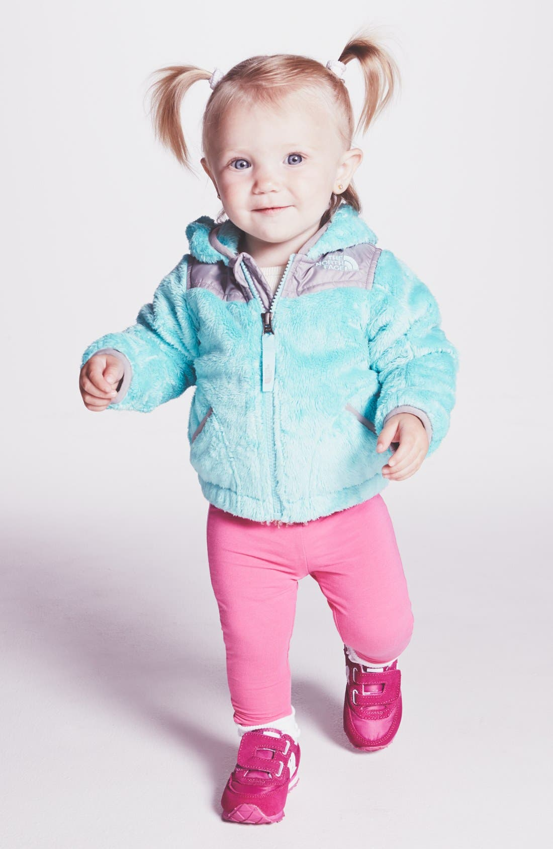 Alternate Image 2  - The North Face 'Oso' Hooded Fleece Jacket (Baby Girls)