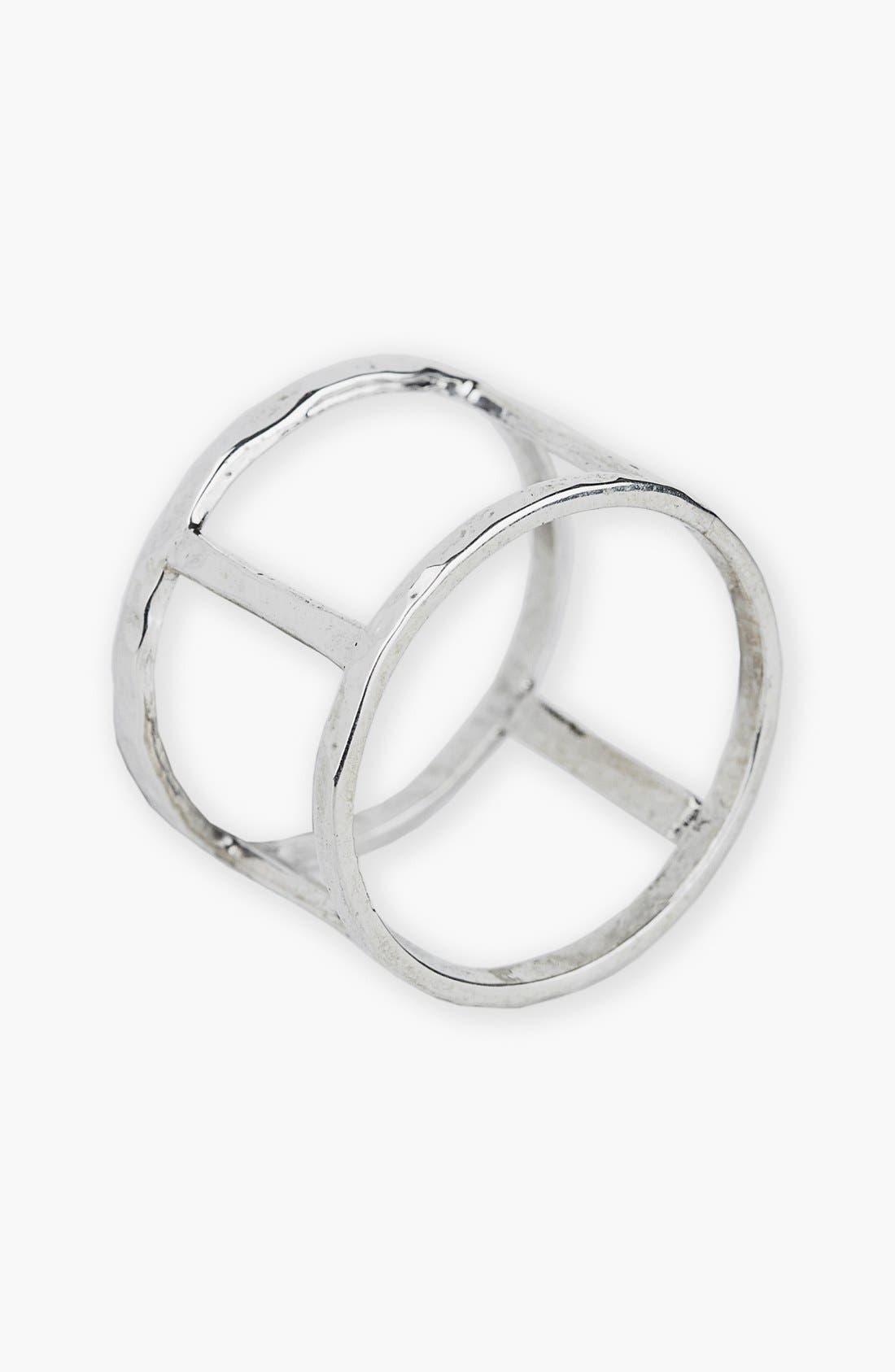 Open Bar Ring,                             Main thumbnail 1, color,                             Silver