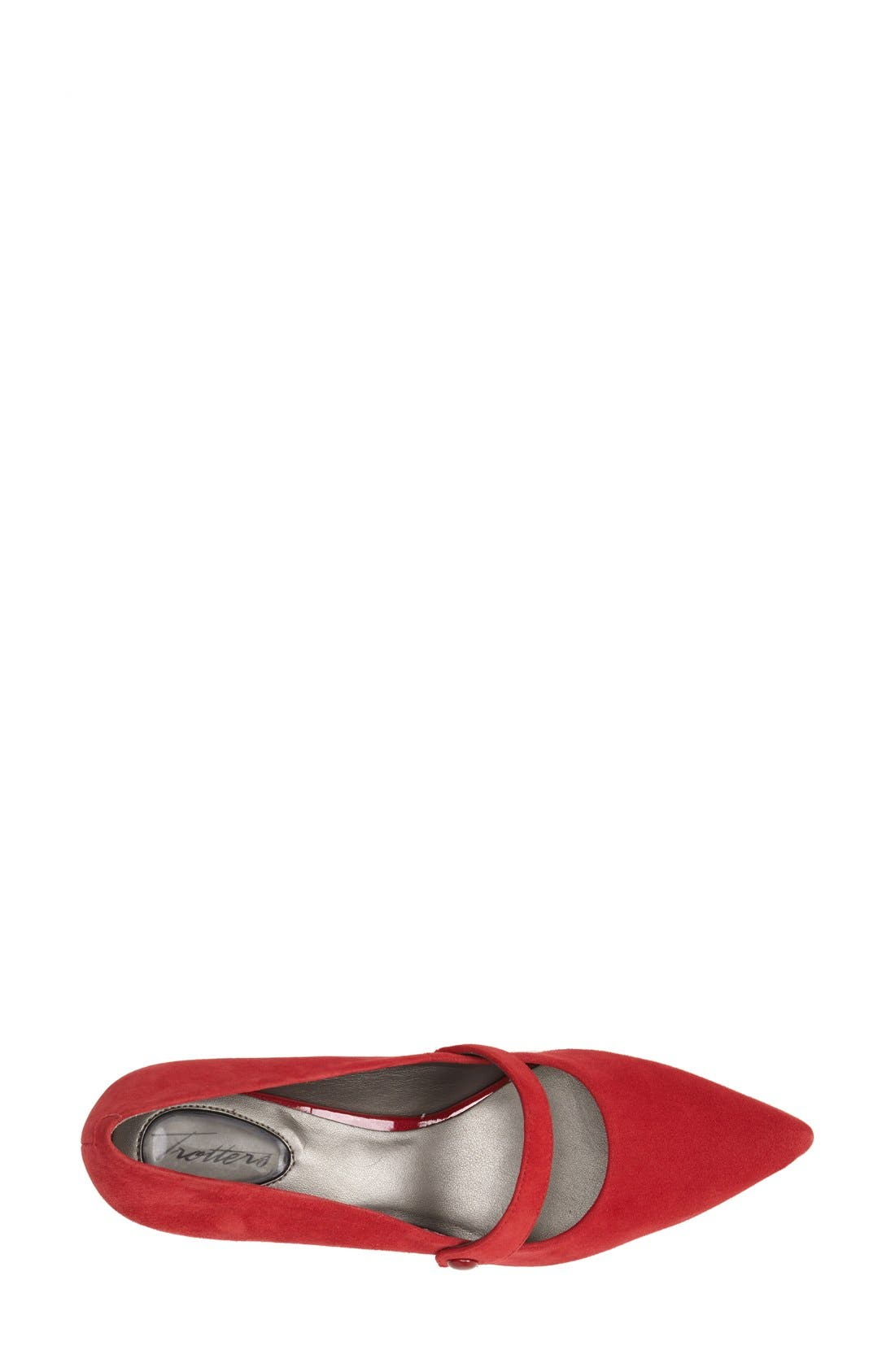 'Petra' Pump,                             Alternate thumbnail 3, color,                             Red Suede