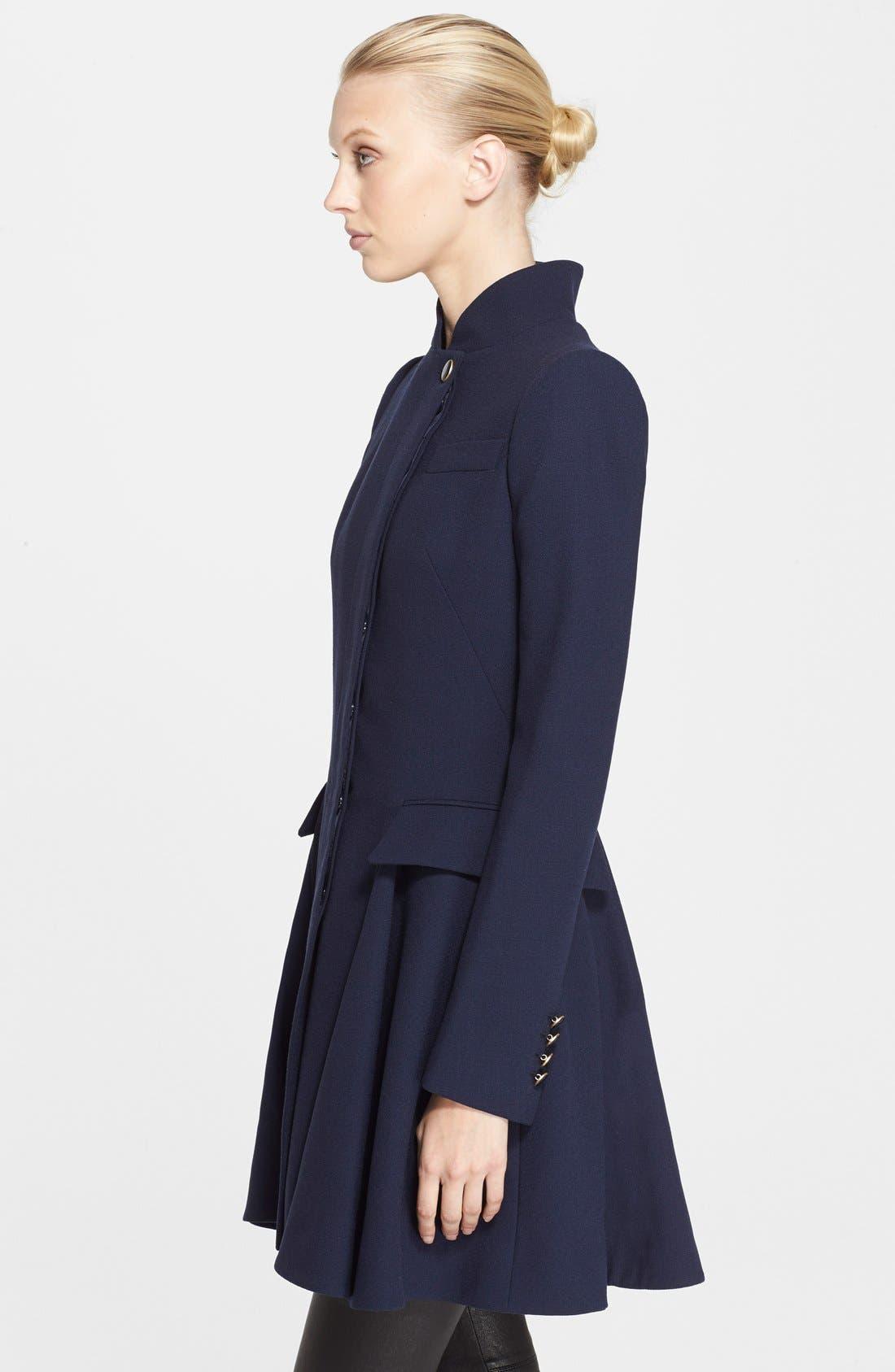 Alternate Image 3  - Alexander McQueen Peplum Wool Coat