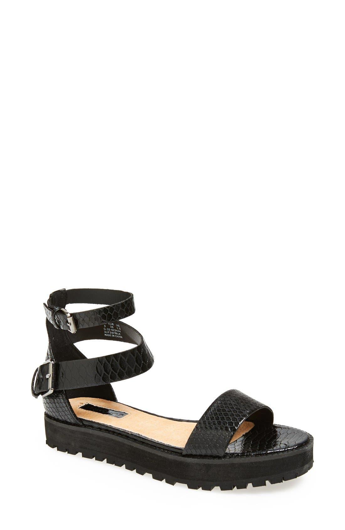 Alternate Image 1 Selected - Topshop 'Free Tread' Sandal