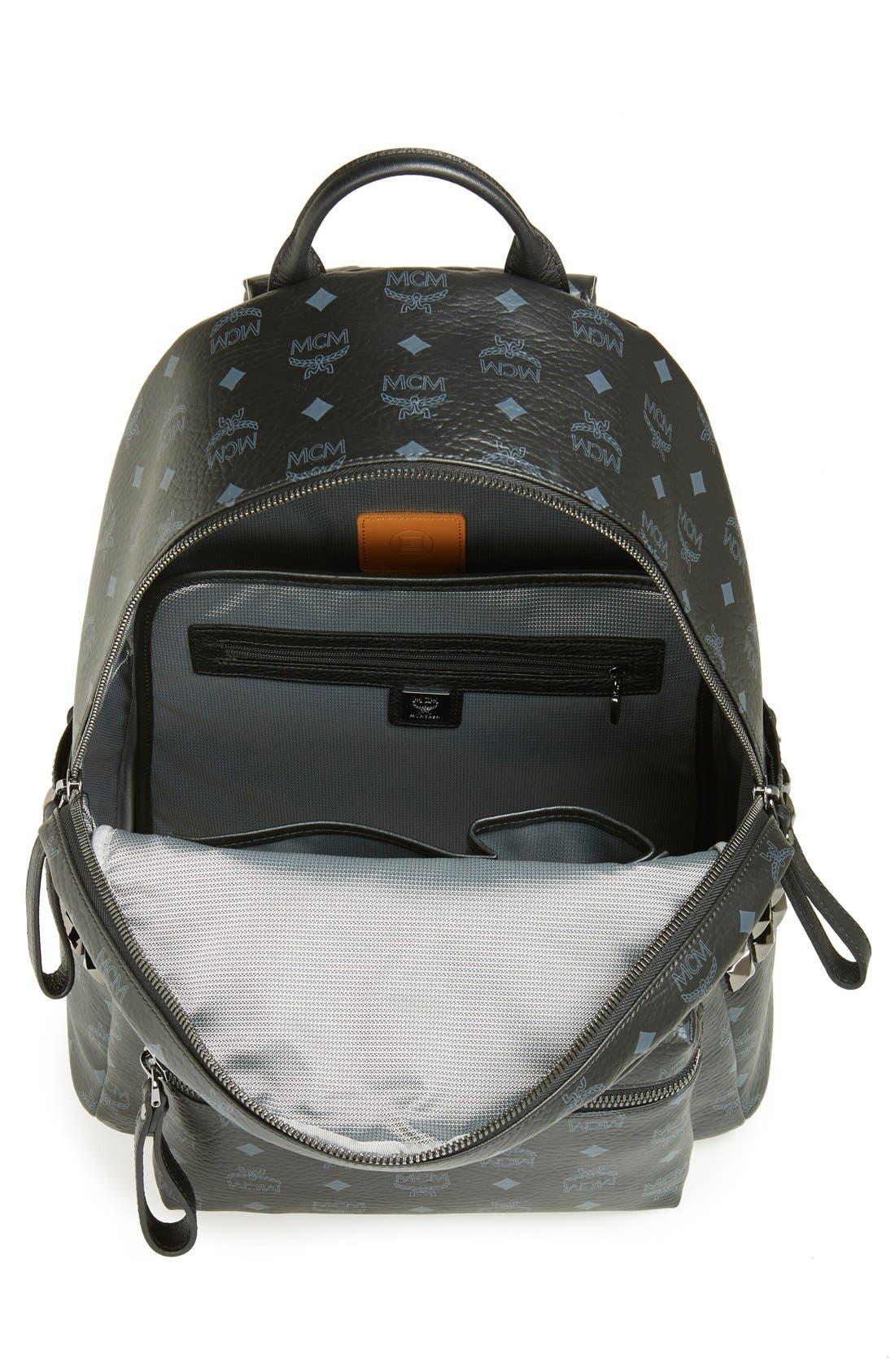 Alternate Image 3  - MCM 'Medium Stark - Visetos' Studded Logo Print Backpack
