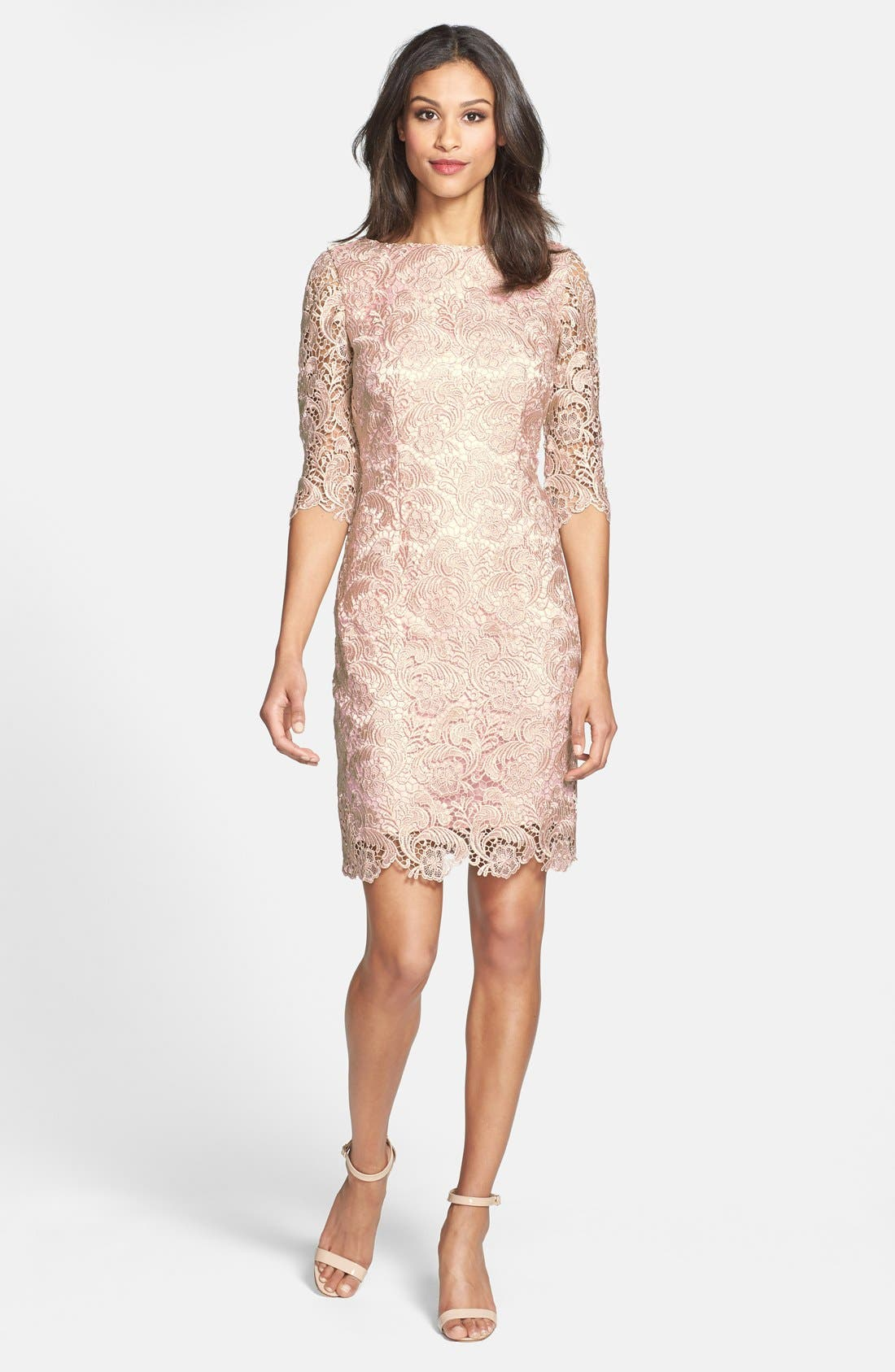 Alternate Image 3  - Eliza J Lace Sheath Dress