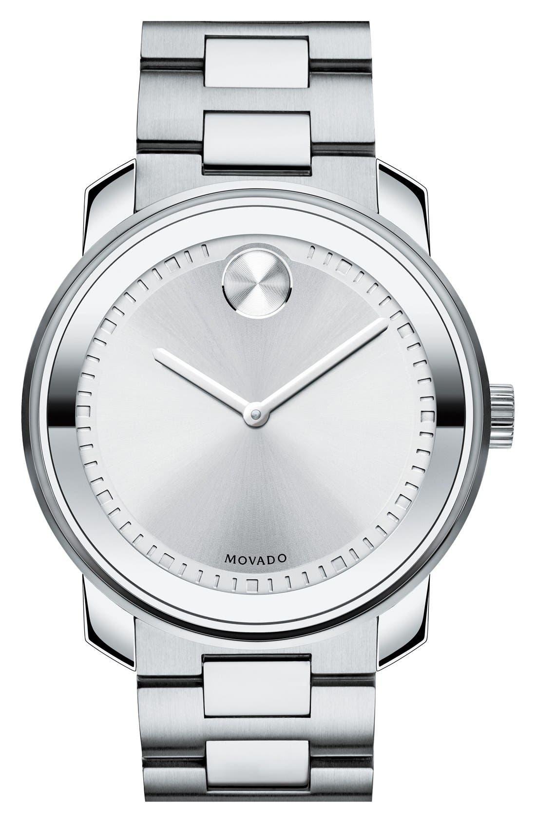 'Bold' Bracelet Watch, 43mm,                         Main,                         color, Silver
