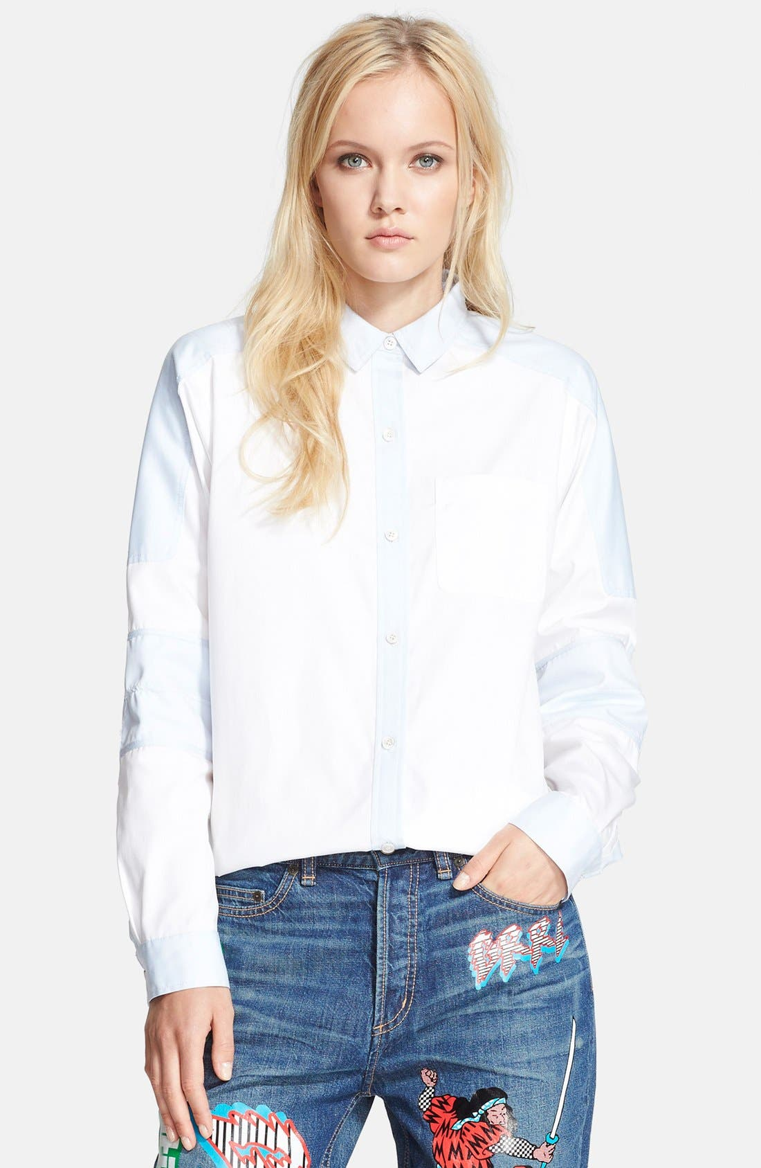 Alternate Image 1 Selected - MARC BY MARC JACOBS 'Miki' Moto Oxford Shirt
