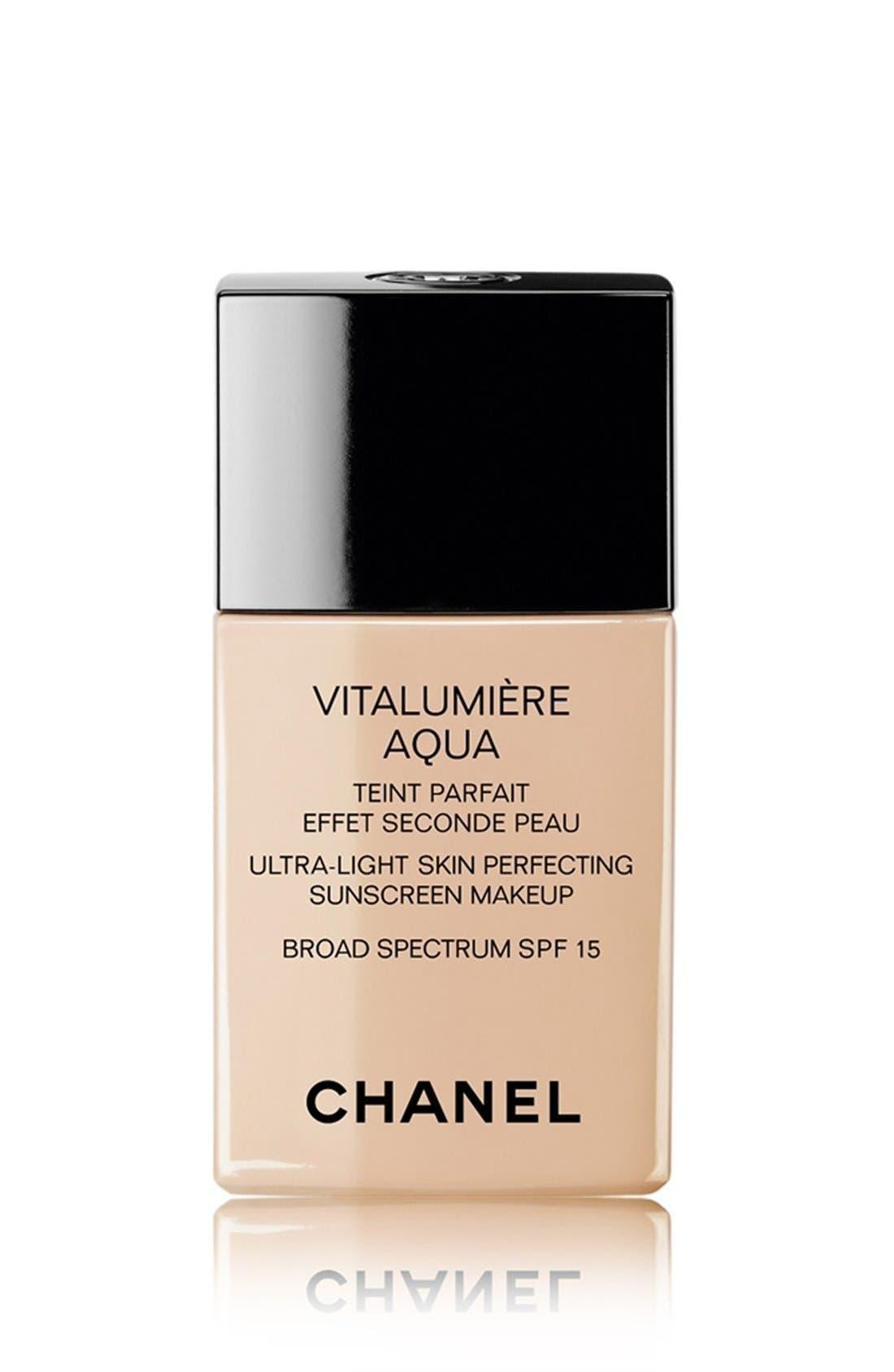CHANEL VITALUMIÈRE AQUA  Ultra-Light Skin Perfecting Sunscreen Makeup Broad Spectrum SPF 15