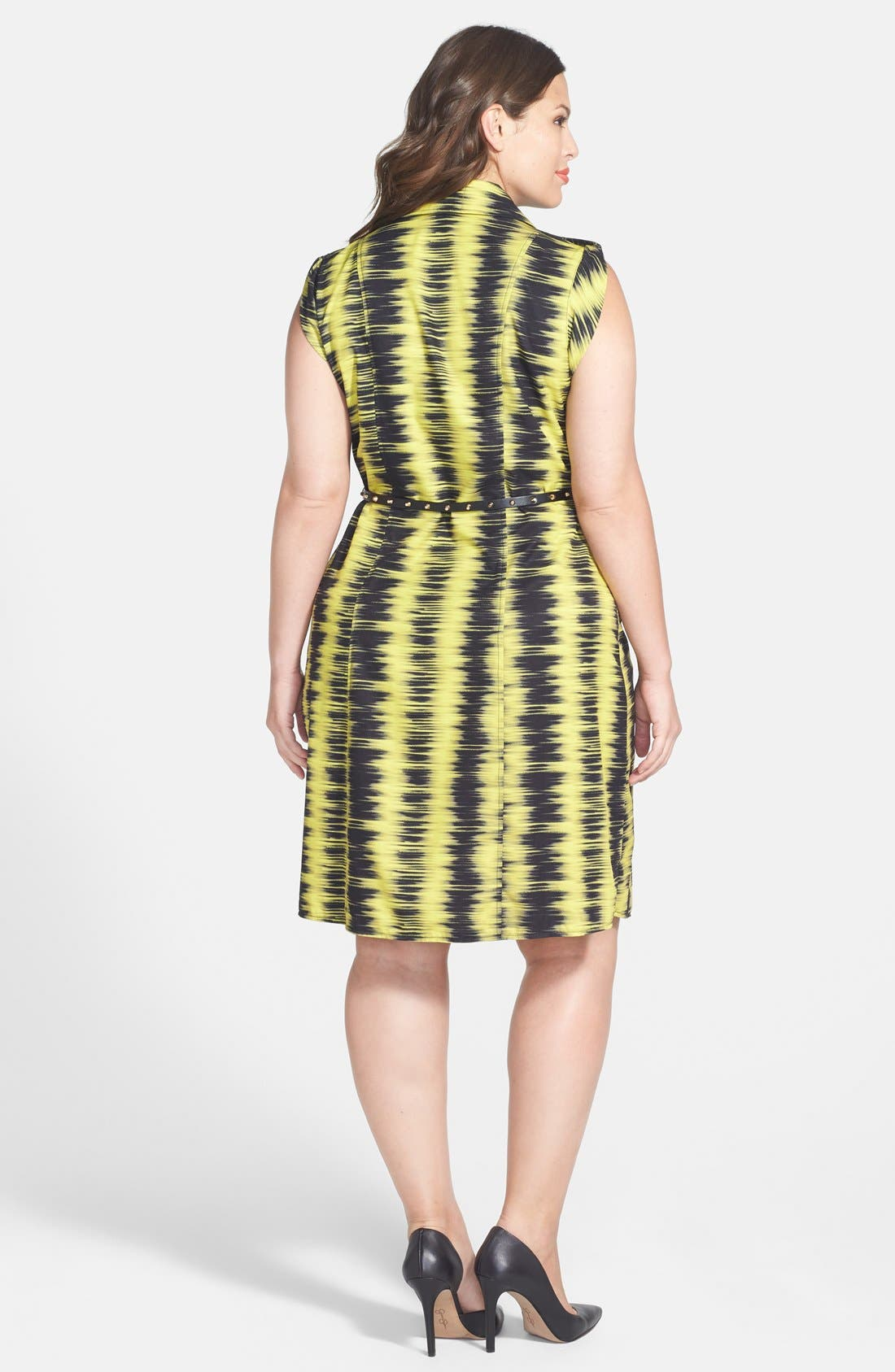 Alternate Image 2  - City Chic 'Feel the Beat' Zip Front Dress (Plus Size)