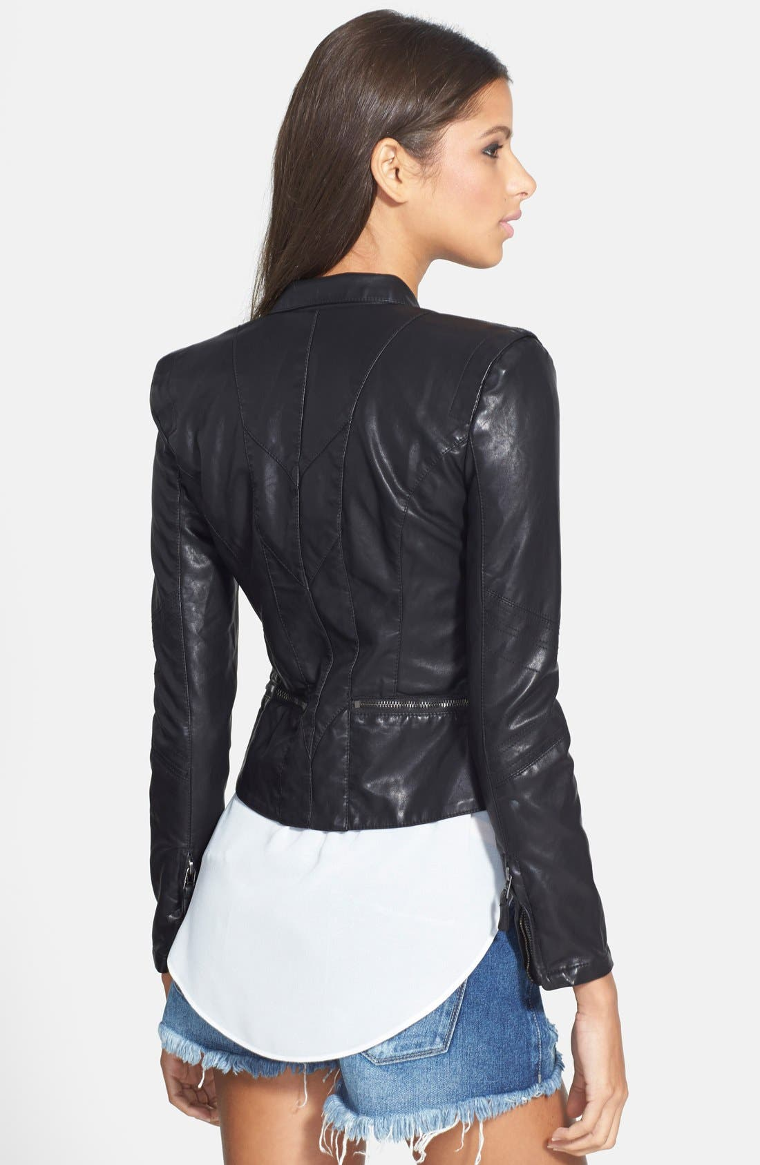 Alternate Image 2  - BLANKNYC Faux Leather Jacket