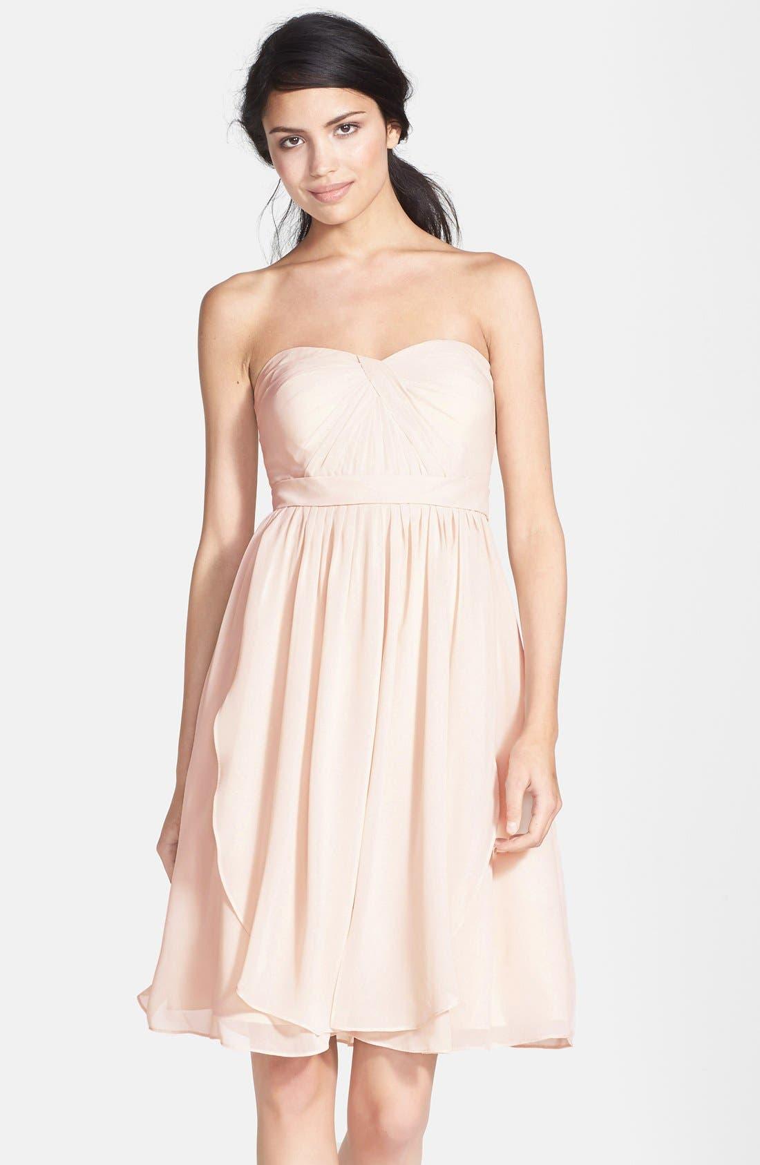 Alternate Image 1 Selected - Jenny Yoo 'Keira' Convertible Strapless Chiffon Dress