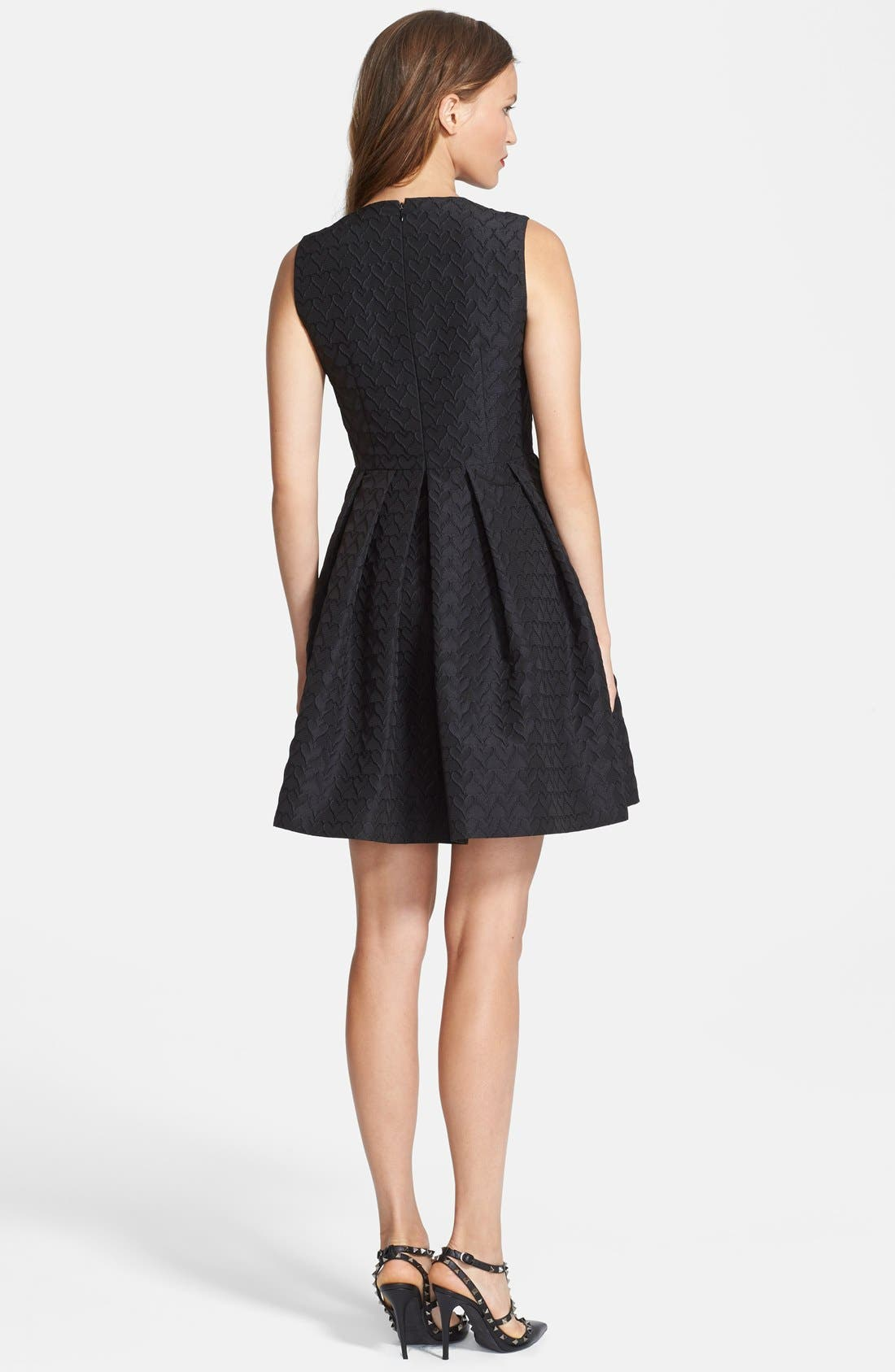 Alternate Image 2  - RED Valentino Jacquard Faille Fit & Flare Dress