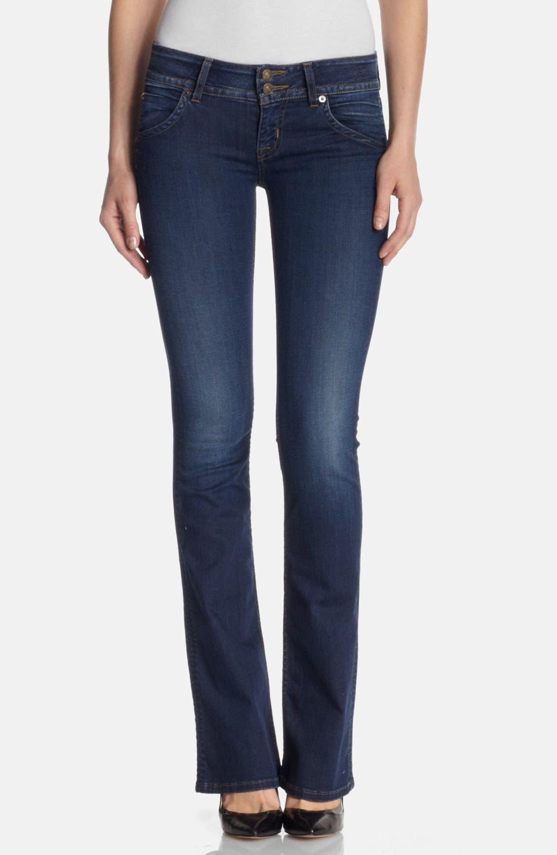 Alternate Image 1 Selected - Hudson Jeans Signature Bootcut Jeans (Limelight)