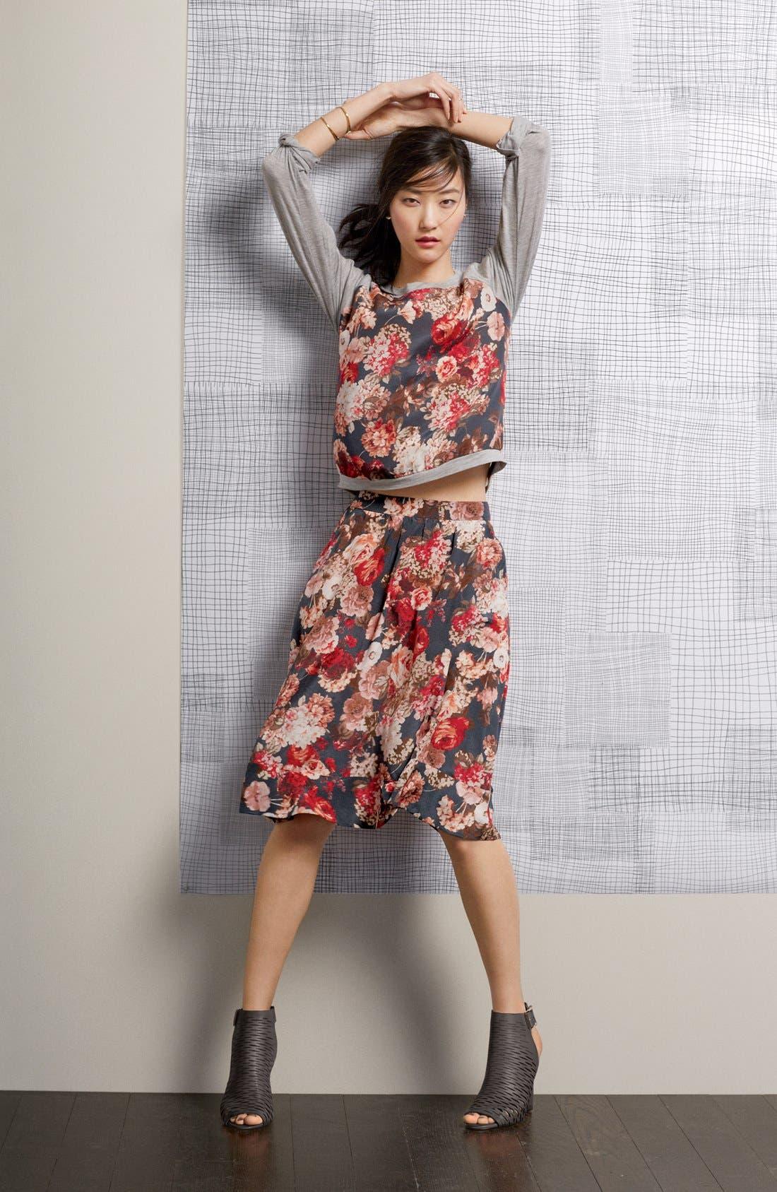 Alternate Image 4  - Search for Sanity Floral Print Midi Skirt (Regular & Petite)