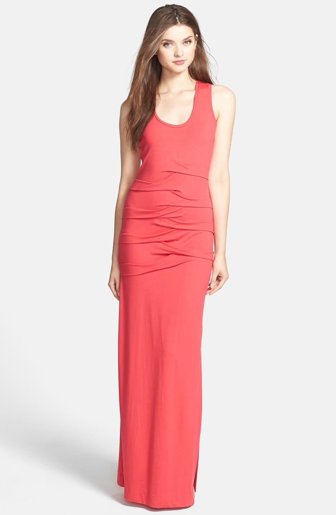 Main Image - SLEEVELESS SCOOP SLIM-FIT MAXI DRESS