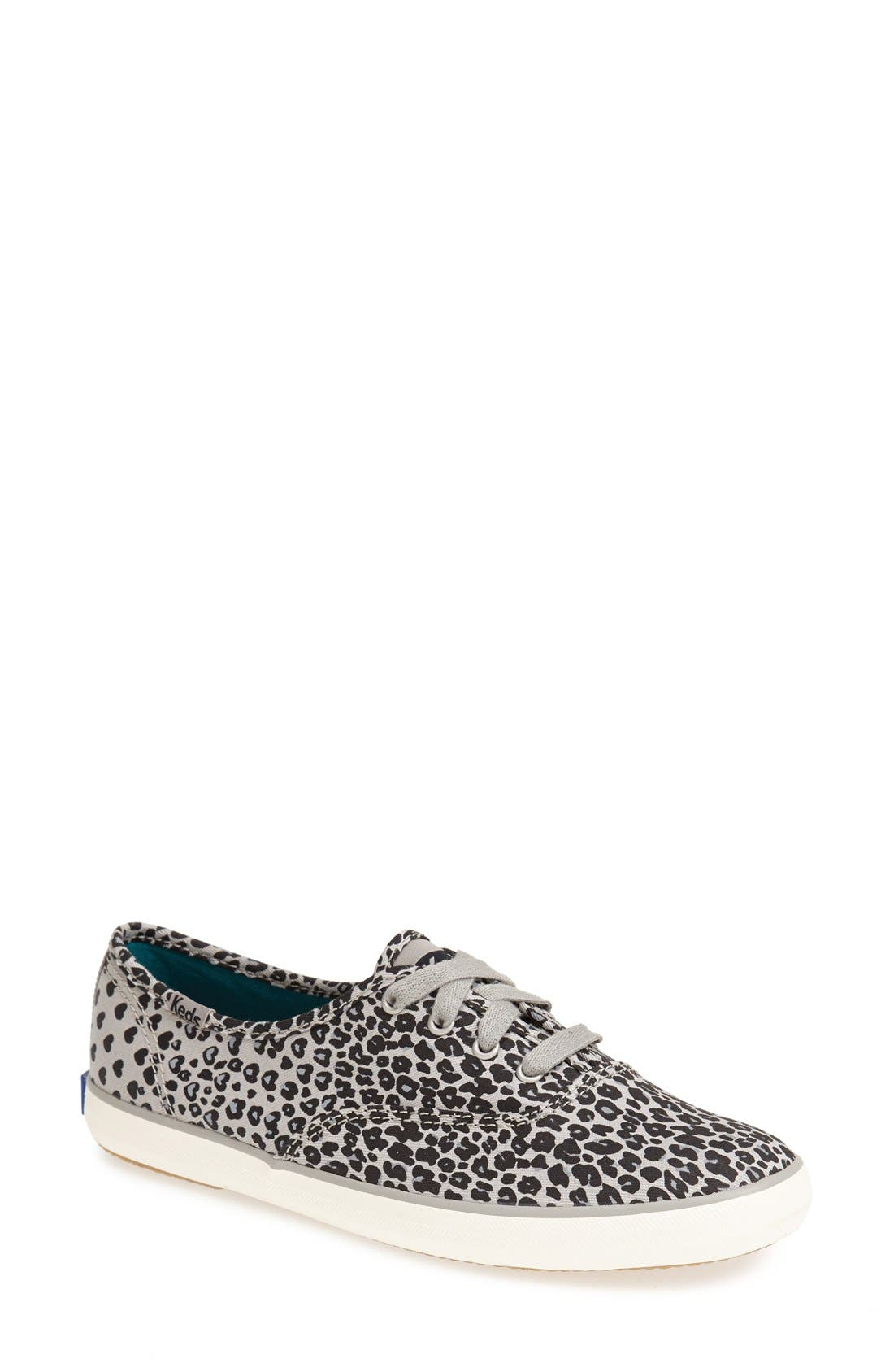 'Champion - Leopard' Sneaker,                         Main,                         color, Black