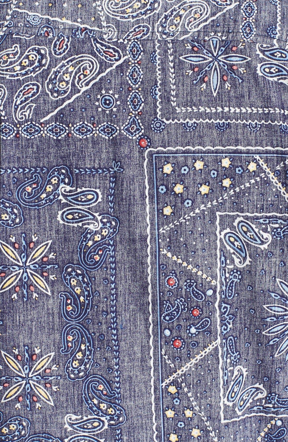 Alternate Image 2  - Native Youth Gypsy Paisley Print Short Sleeve Chambray Shirt