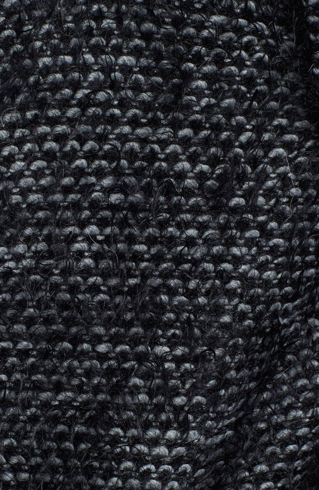 Tweed Long Coat,                             Alternate thumbnail 3, color,                             Black Multi