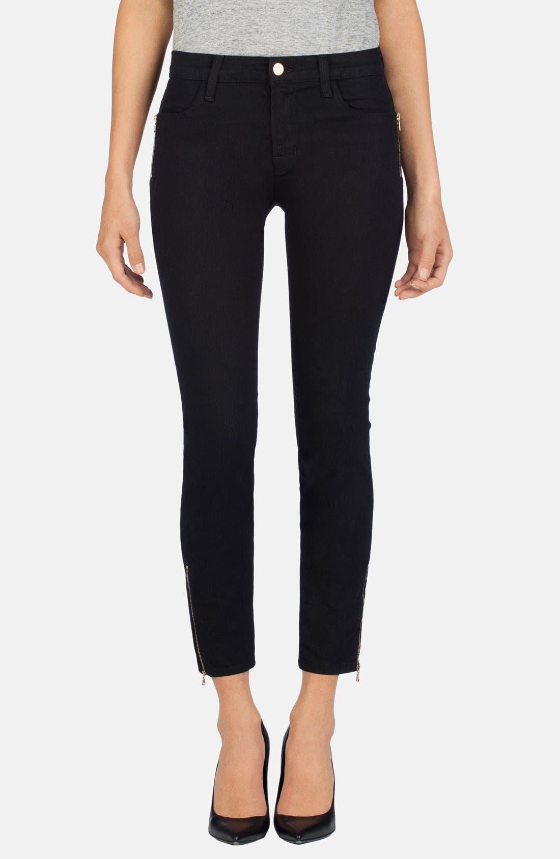 Main Image - J Brand Ankle Zip Skinny Jeans (Vanity)