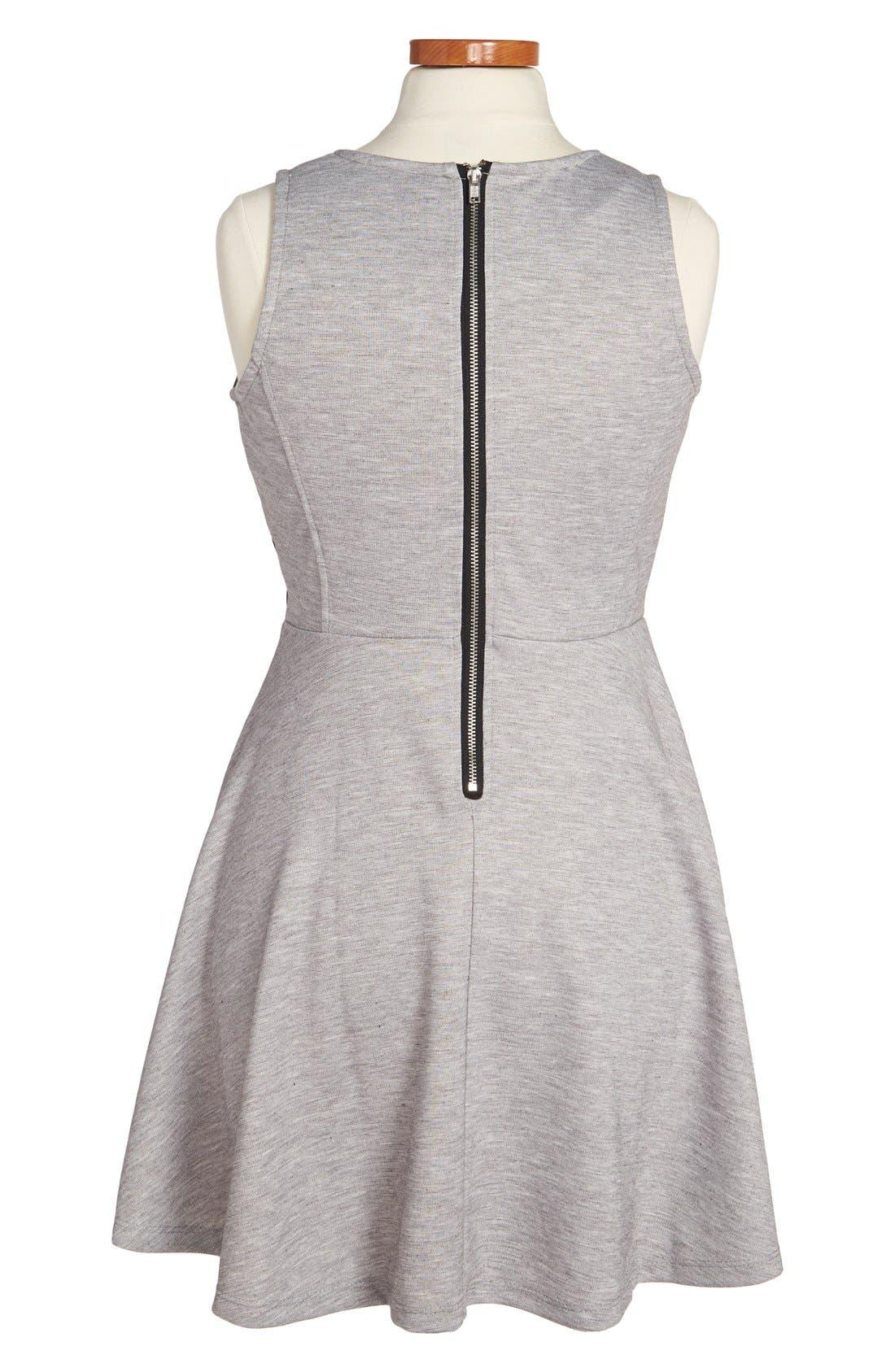 Alternate Image 2  - W Girl Sleeveless Skater Dress (Big Girls)