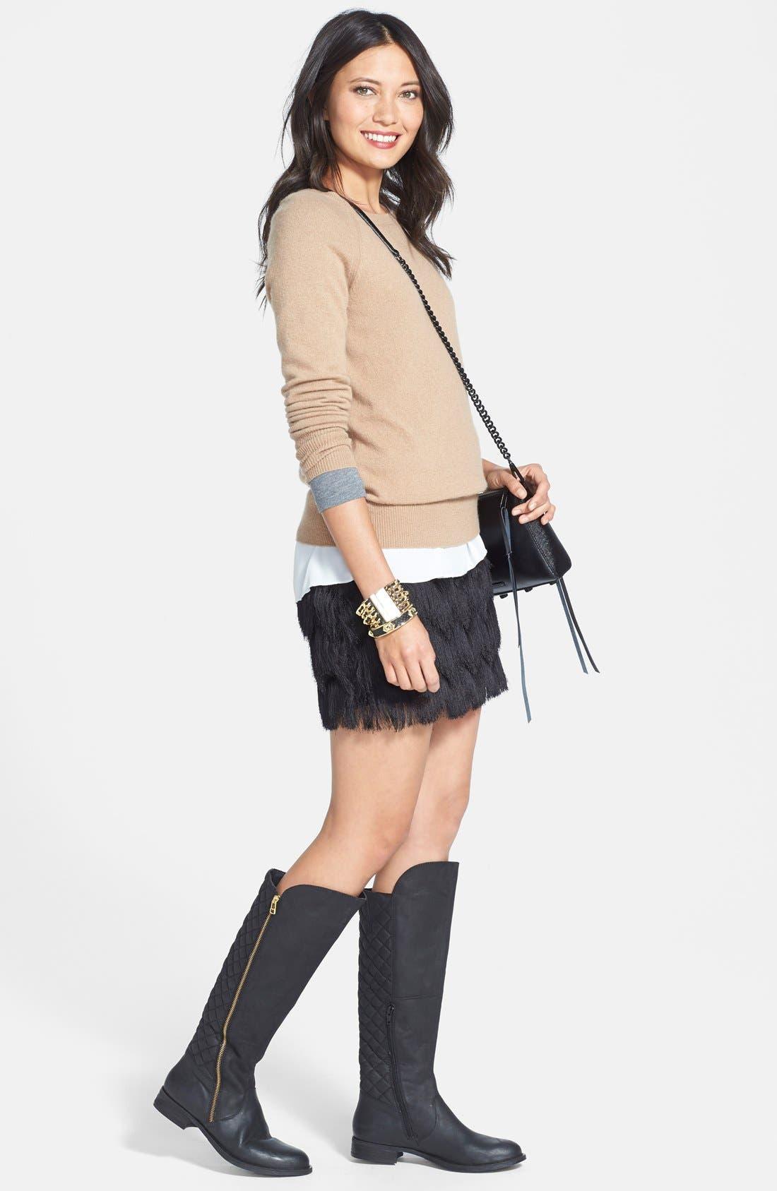 Alternate Image 4  - Leith Fringe Miniskirt