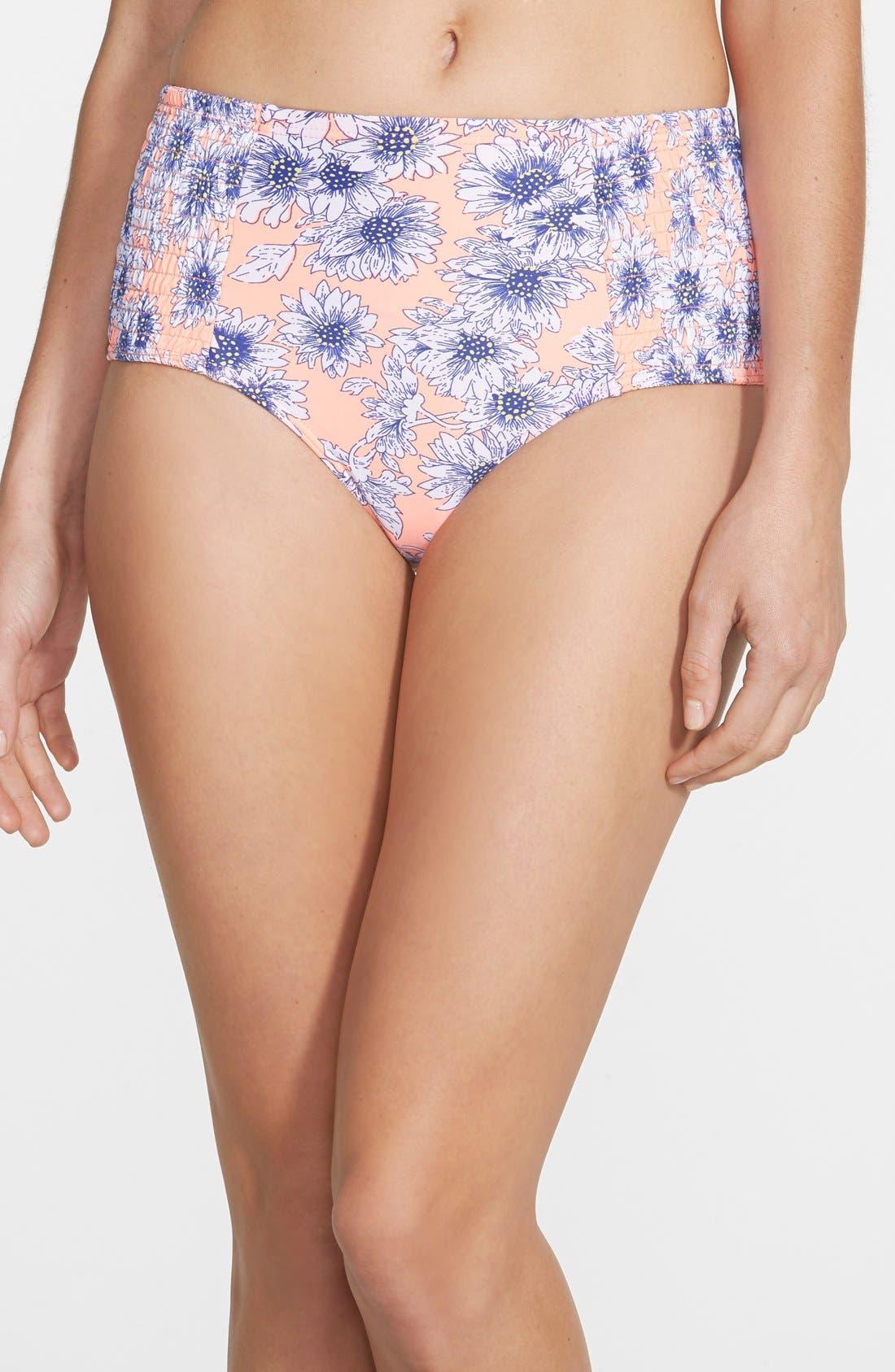 Alternate Image 1 Selected - O'Neill 'Sunflower' High Waist Bikini Bottoms