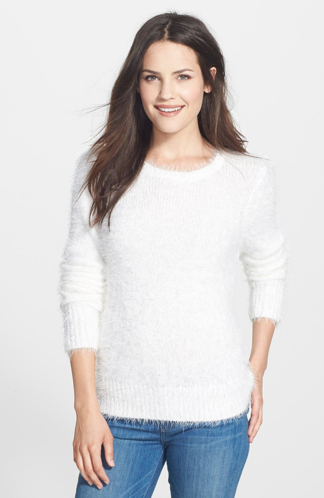 Main Image - Halogen® Eyelash Knit Crewneck Sweater