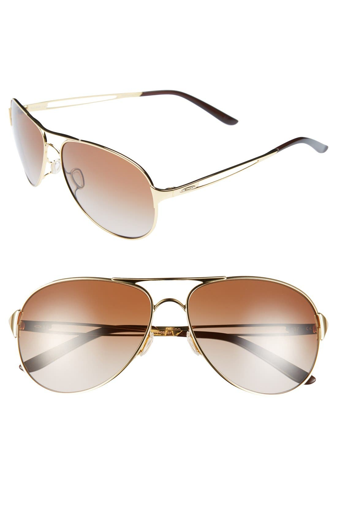 Alternate Image 1 Selected - Oakley 'Caveat™' 60mm Aviator Sunglasses