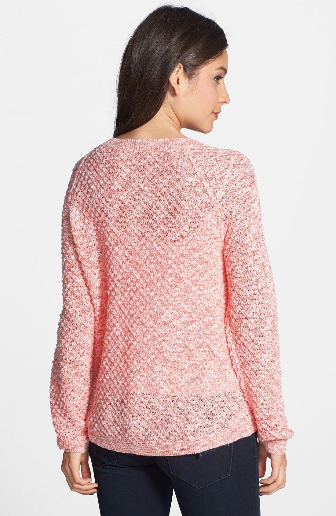 Alternate Image 2  - BP. Slubbed Dolman Sleeve V-Neck Sweater (Juniors)