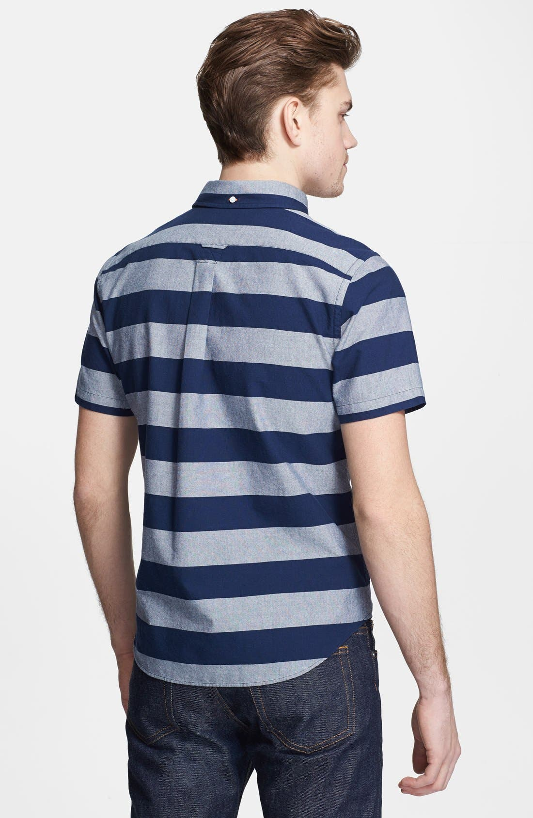 Alternate Image 2  - Jack Spade 'Percy' Short Sleeve Stripe Pullover Shirt