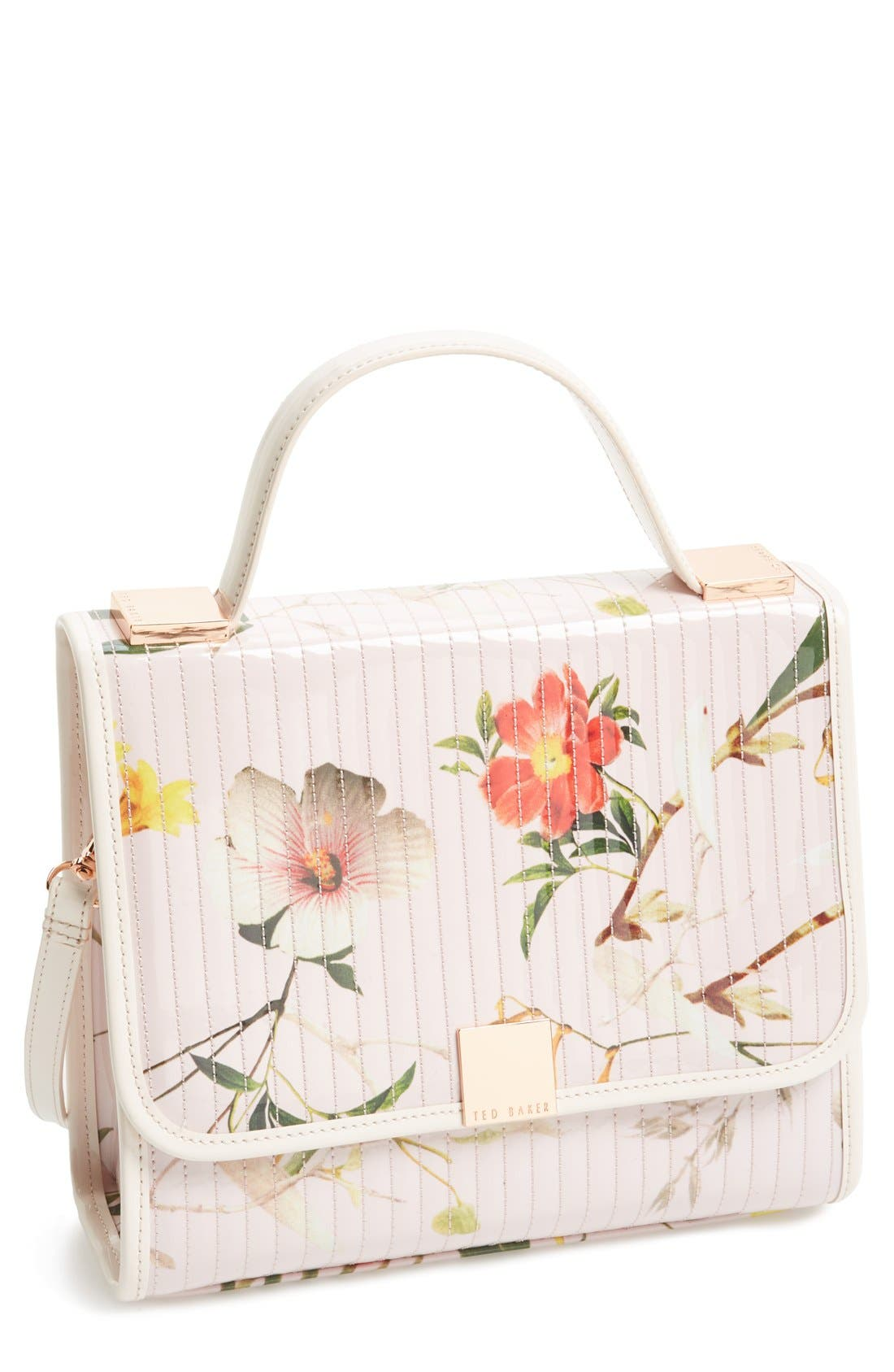 'Botanical Bloom' Crossbody Bag,                             Main thumbnail 1, color,                             Pale Pink