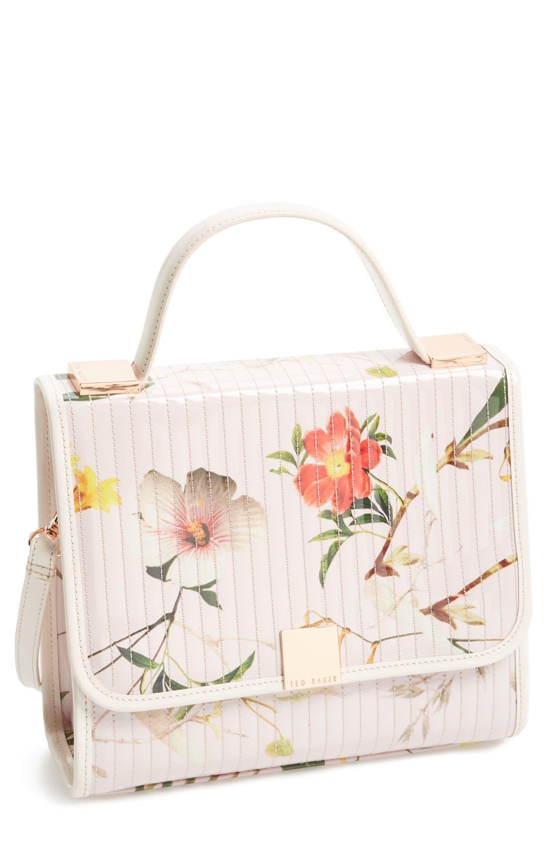'Botanical Bloom' Crossbody Bag,                         Main,                         color, Pale Pink