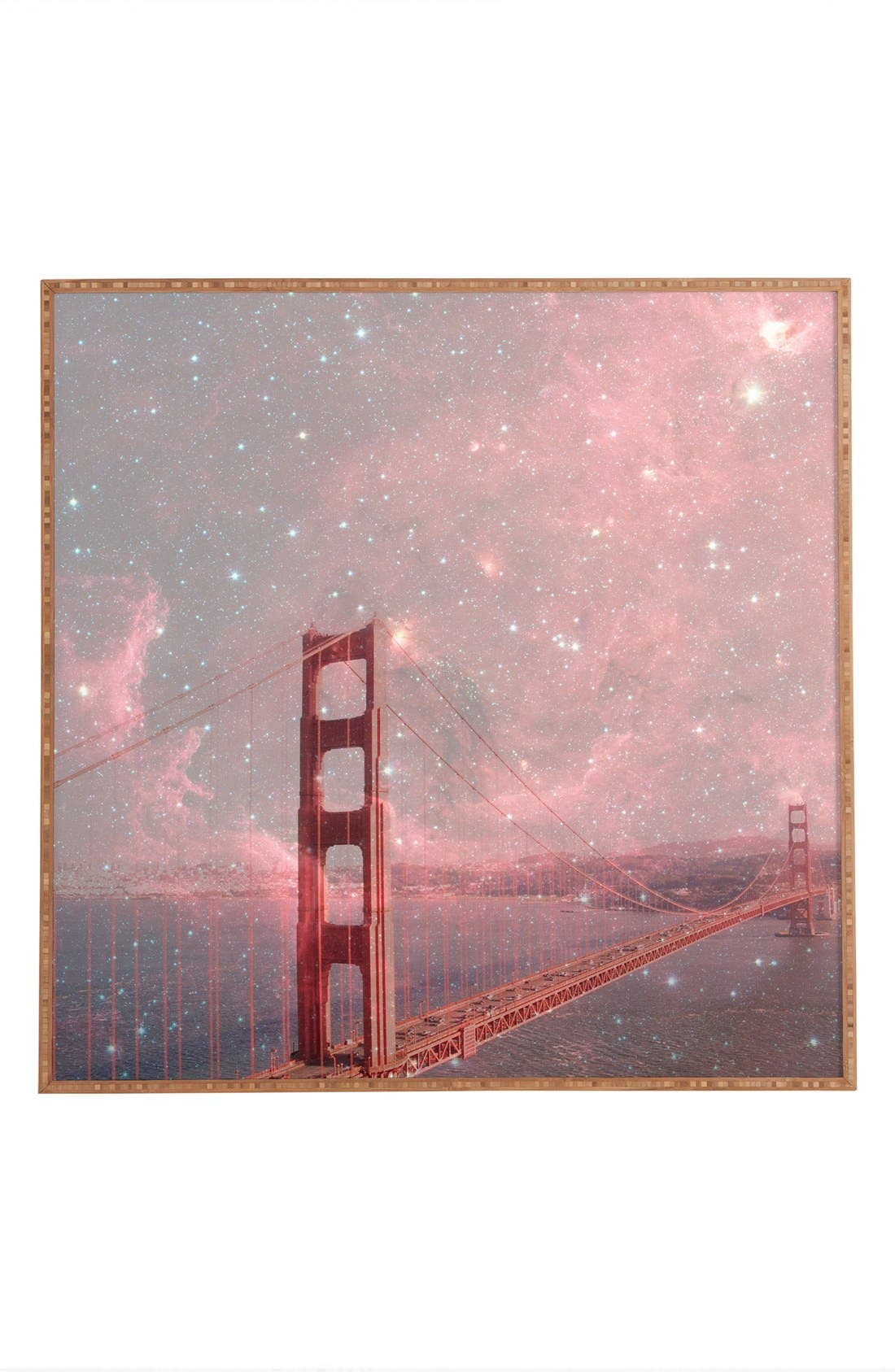 Main Image - Deny Designs 'Bianca Green - Stardust Covering San Francisco' Wall Art