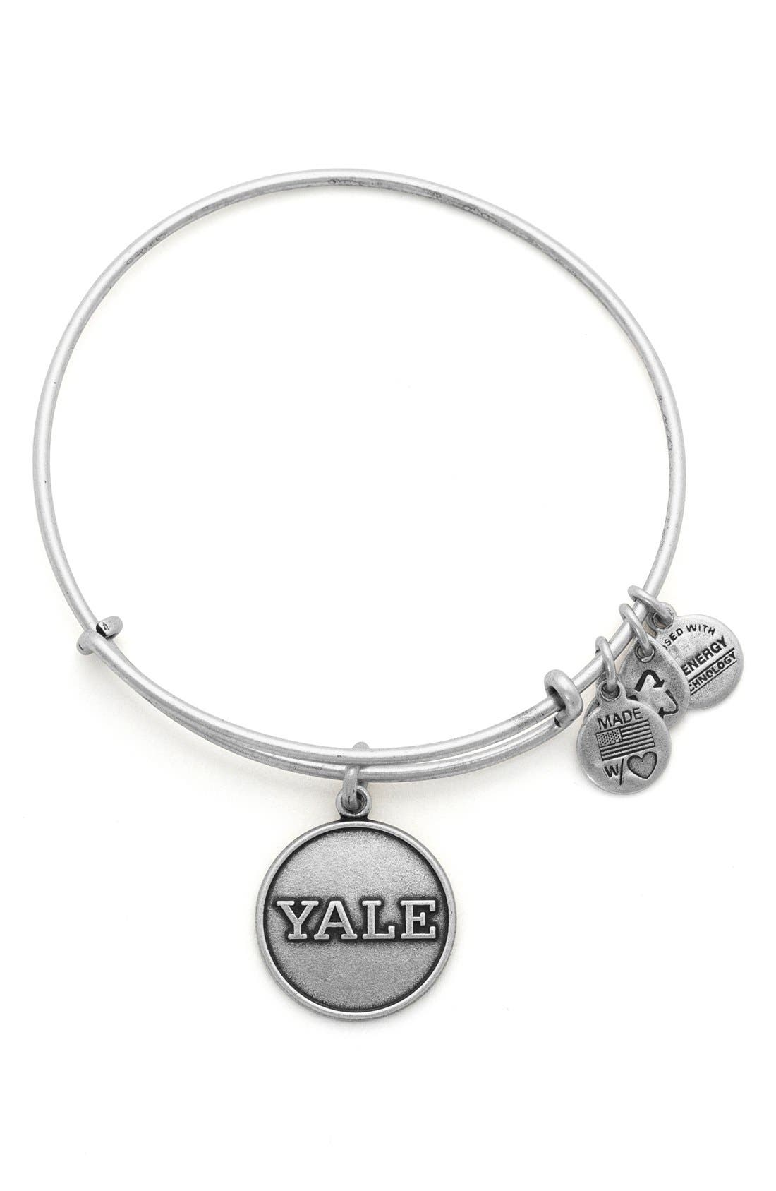 Alternate Image 1 Selected - Alex and Ani 'Collegiate - Yale University' Expandable Charm Bangle