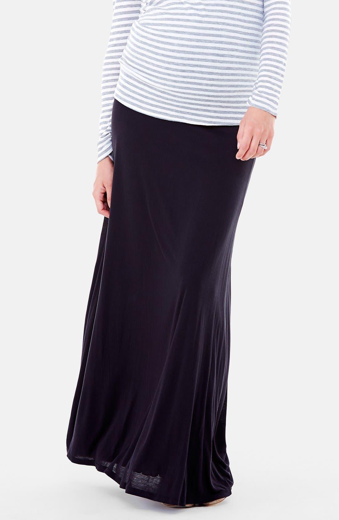 Alternate Image 4  - Ingrid & Isabel®'Flowy' Maxi Maternity Skirt