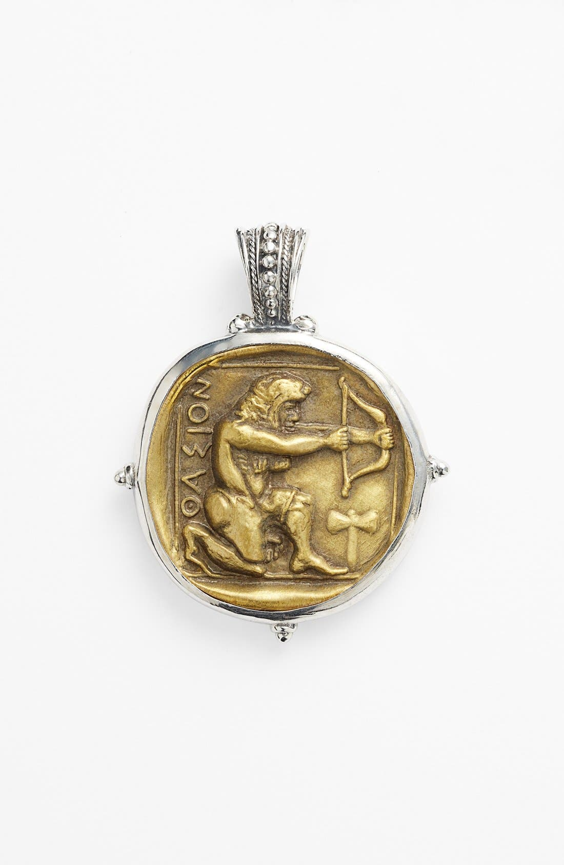 'Byzantium - Hercules' Pendant,                             Main thumbnail 1, color,                             Silver