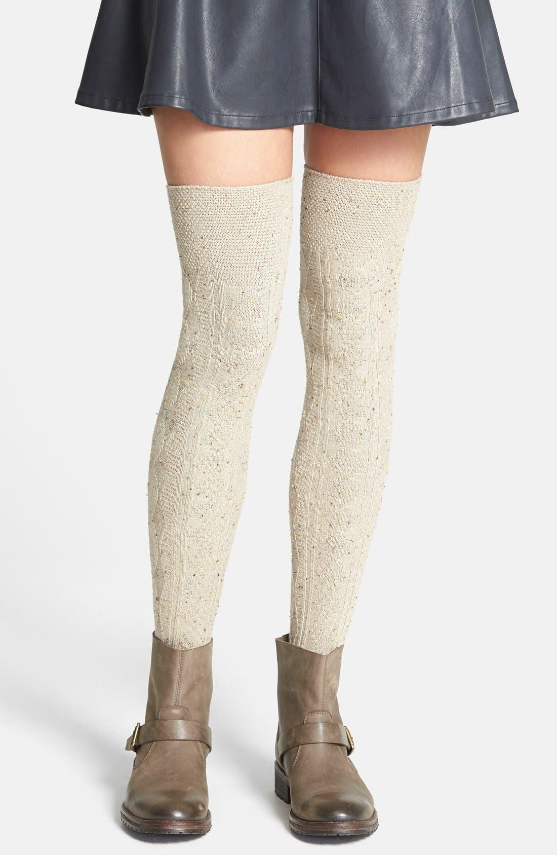 Alternate Image 1 Selected - Nordstrom 'Confetti' Over The Knee Socks
