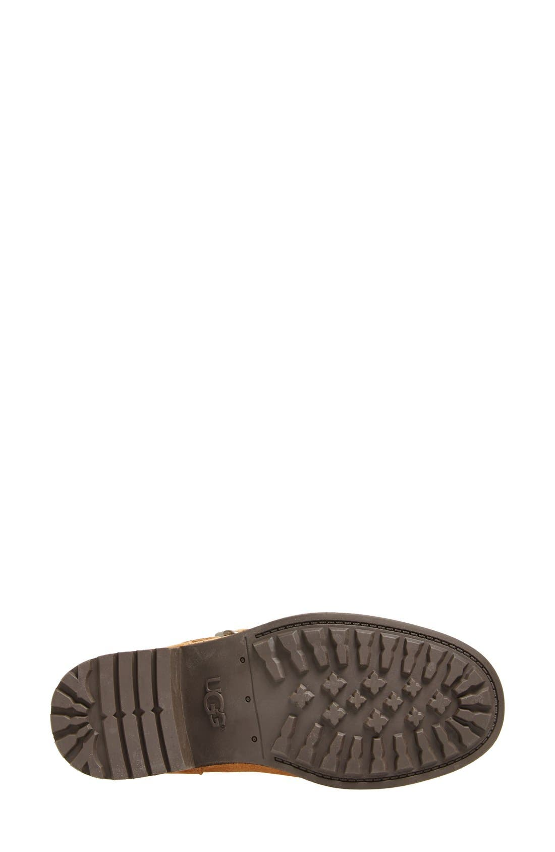 Alternate Image 5  - UGG® 'Chaney' Water Resistant Suede Moto Boot (Women)