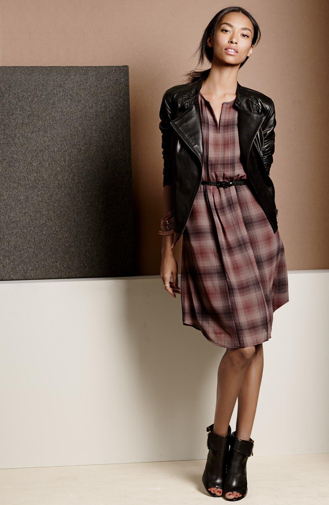 Alternate Image 4  - Halogen® Belted Pleat Front Dress (Regular & Petite)
