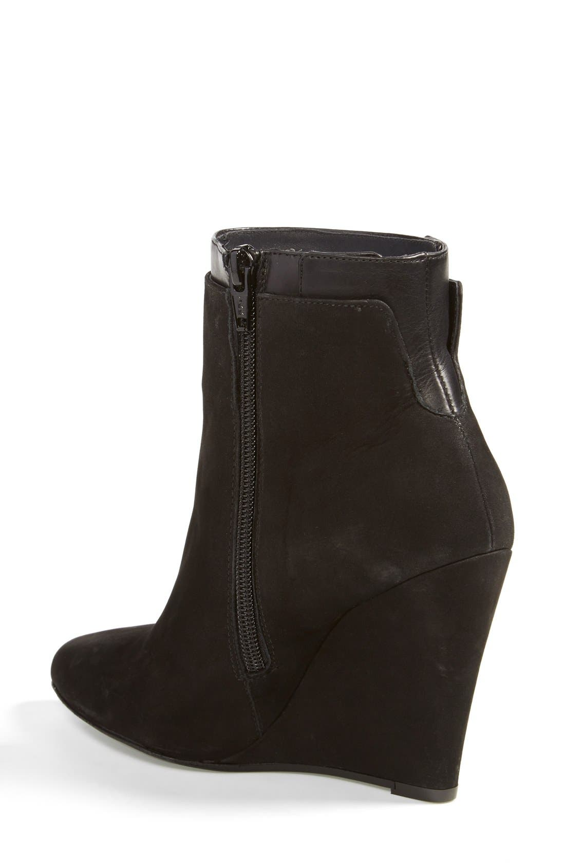 Alternate Image 2  - Vince 'Ludlow' Leather Wedge Bootie (Women)